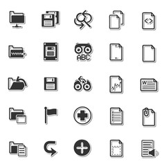 Basic application icon set