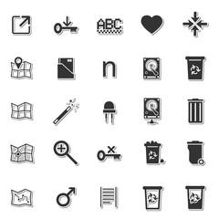 Basic application icon set