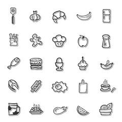 Cooking Hands Drawing icon set