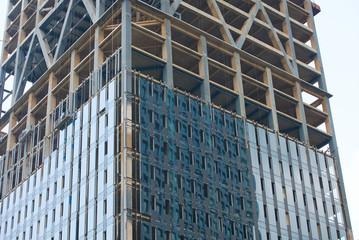 Skyscraper construction,  outdoor building