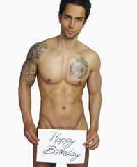 sexy happy birthday - handsome man naked