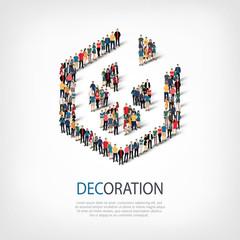 decoration people sign 3d
