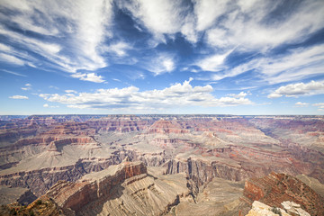 South Rim of the Grand Canyon National Park, one of the top tourist destinations in the United States.