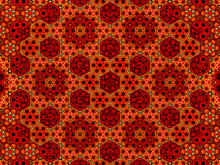 Fiery oriental fractal background