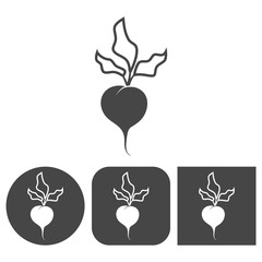 Sugar beet - vector icon