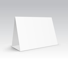 Vector Table Blank Stand Holder Menu Paper Calendar Card Isolated