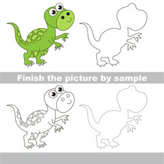 Tyrannosaurus. Drawing worksheet.