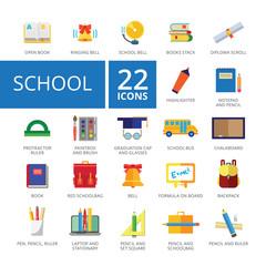 School Icons Set