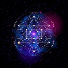 Sacred geometry. Flower of life pattern symbol
