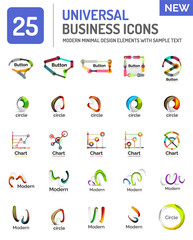 Set of new universal business logos