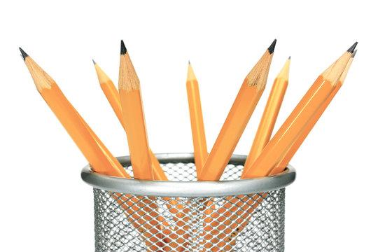 Pencils in holder