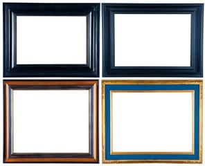 set of decorative frames isolated on white