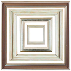wooden decorative frame isolated on white