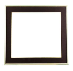 black decorative frame isolated on white