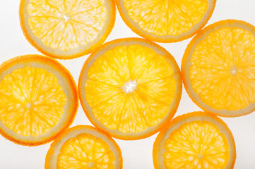 Citrus slices with back light