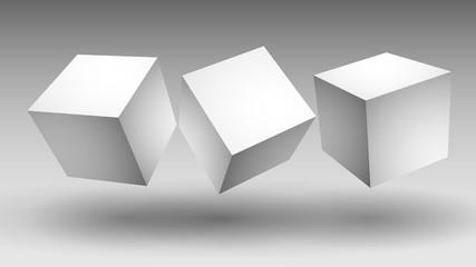 białe sześciany wektor