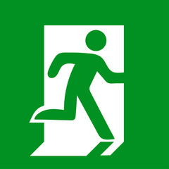 exit sign to show people the way out of a building