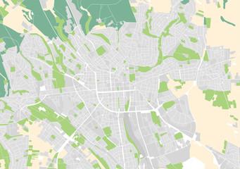 Vektor Stadtplan von Wiesbaden