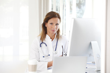 Female doctor at work