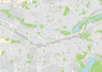 Vektor Stadtplan von Nürnberg