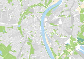 Vektor Stadtplan von Köln