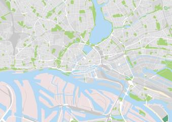 Vektor Stadtplan von Hamburg