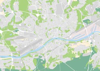 Vektor Stadtplan von Frankfurt am Main