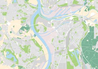 Vektor Stadtplan von Duisburg