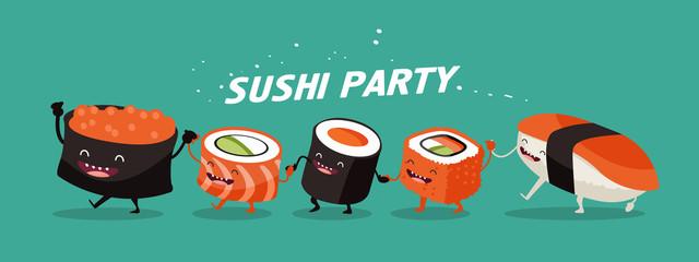 Sushi characters