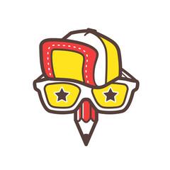 Creative designer logo. Geek avatar vector icon