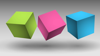 kolorowe sześciany wektor