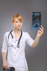Profession, a woman doctor