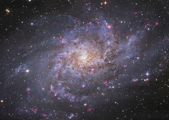 Galaxy in cosmic space