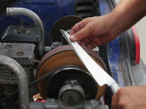 Vintage knife grinder