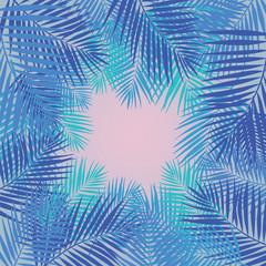 Palm leaves background. Vector Illustration.