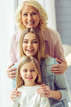 Granny, mom and daughter