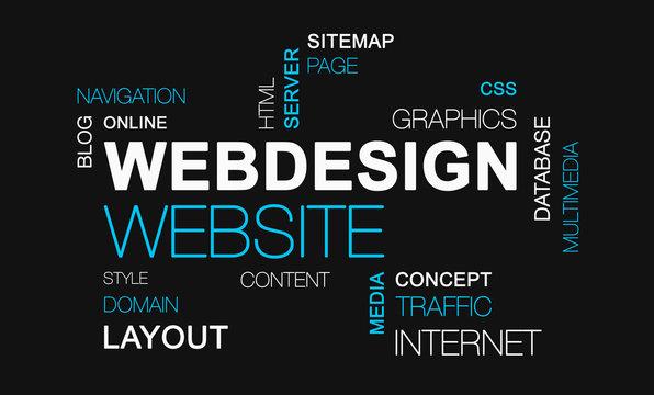 webdesign website word cloud