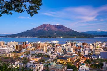 Fototapete - Kagoshima Japan Skyline