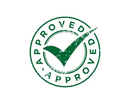 Green Approved Stamp Check Mark