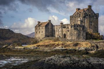 Eilean Donnan Castle in Kyle of Lochalsh Scottish Highlands