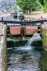 Regent's Canal, north of Paddington Basin. London, England.