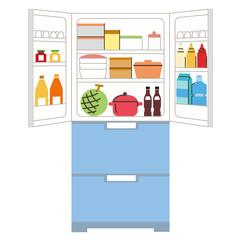 整頓されてる冷蔵庫