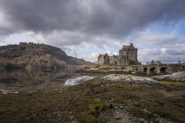 Ancient eilean Donnan Castle in Scotland