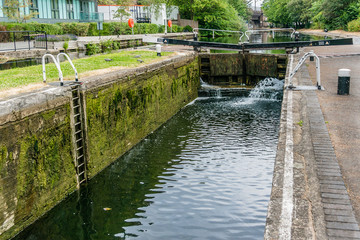 Regent's Canal, north of Paddington Basin. London, England.