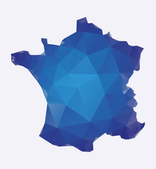 Polygonal map of France