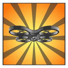 Drone, quadrocopter poster.