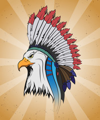 Eagle in a national Indian hat.