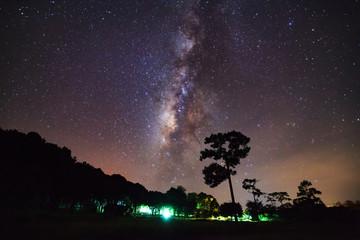 Milky Way Galaxy at Phu Hin Rong Kla National Park,Phitsanulok T