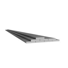 Flat rectangular metal bars