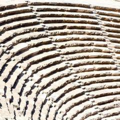 in turkey europe aspendos the old theatre abstract texture of st